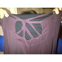 Vestido Violeta Largo De Jersey