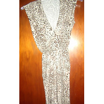 Vestido De Modal Animal Print- Talle S-m