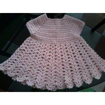 Vestido Tejido A Crochet Recien Nacido