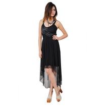 Vestido Irregular De Tul Y Raso Con Cola, Brishka M-0055