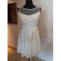 *vestido Corto Transparencias Y Espalda - Ideal Novias Civil