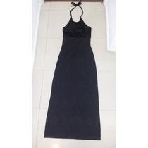Vestido Largo De Fiesta Para Noche Negro Marca Ona Saez