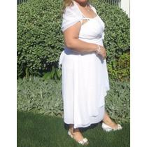 Vestido De Matrimonio Blanco,civil,etc, Talle Grande