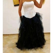 Vestido De 15 Blanco Y Negro