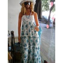 Vestido Largo Floreada Con Brodery
