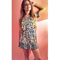Vestido Animal Print 2016 - Simil Seda, Satén - Fiesta -