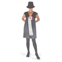 Vestido Raso Negro Divino, Original!! Talle 1!!
