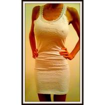 Vestido De Encaje Al Cuerpo Y Espalda Con Transparencia