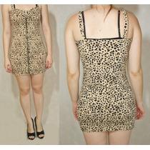 Vestido Divided By H&m Animal Print Con Cierre Talle 42