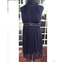Vestido Azul Con Lentejuelas Fiesta Importado Usa