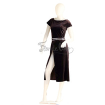Vestido De Tango Y Noche Color Negro -terciopelo - Talle M