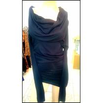 Vestido Remeron Negro Bien Elastizado Cuello Bote