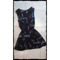 Vestido Remerón Crep Estampado Mujer - Xoara Jeans