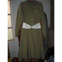 Antiguo Vestido Años 70/80 Retro Con Cinturon De Cuero