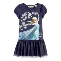 Vestido Frozen Elsa Disney Y H&m Original Importado