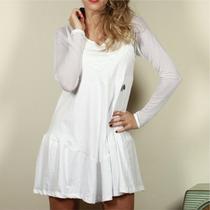 Vestido Blanco Manga Larga, Veive