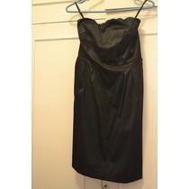 Vestido Negro Strapless Raso - Nuevo!