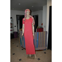 Maria Cher Vestido Largo Modelo Atlante Color Coral Promo
