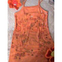 Vestido Talle 12 Con Lentejuelas Importado