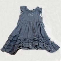 Vestido De Corderoy Azulino Marca Cheeky Talle 2