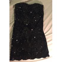 Vestido Negro De Lentejuelas De Las Pepas