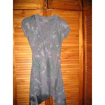 Vestido Minifalda Fribrana M Gris John L Cook Picos Excelent