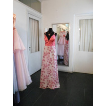 Vestido De Fiesta Largo, Falda Estampada. Diseños Unicos