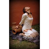 Vestido Aborigen Artesanal Con Flecos Anticipo Invierno 2016
