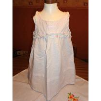 Mimo & Co Vestido Talle 4 Blanco C/lunares En Fucsia Y Verde