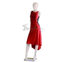 Vestido De Tango Y Noche - Rojo Y Negro - Talle L