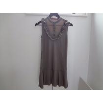 Vestido Gris De Zara Juvenil (trafaluc) T.28