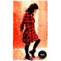 Vestido Modal Estampado - Evasé Talle 1-2-3-4