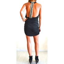 Vestido Tunica Seda Sexy Importado Disimula Comodin Bordado