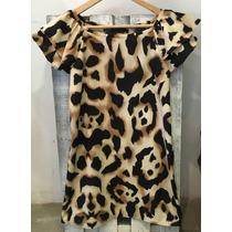 Vestido De Animal Print Seda Agarrate Catalina