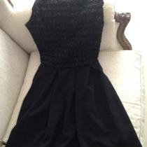 Vestido D Fiesta Importado Negro Con Brillo Corto Sexy