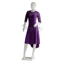 Vestido De Tango Y Noche Color Violeta- Encaje - Talle M