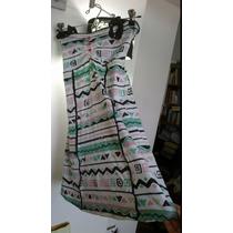 Vestido Mini Estampado Algodón Lycra -juvenil