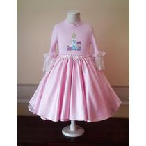 Vestido Importado Nena Disfraz Cenicienta Princesas T5 Usa
