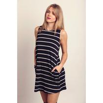 Vestido Morley Negro Y Blanco Rayas Rayado - Moda 2016!