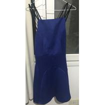 Vestido Azul Corte Helter Nuevo Talle M - Importado