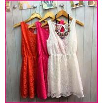 Vestido Encaje Ultima Temporada - Colores ! Talles 1, 2 O 3