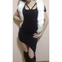 Vestido De Fiesta Al Cuerpo De Corto A Largo Negro Y Gris
