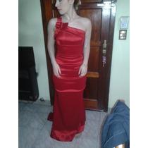 Vestido De Fiesta Rojo Corte Sirena