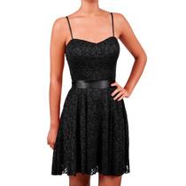 Vestido Corto De Encaje, Brishka, M-0014