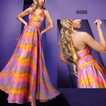 Deslumbra Vestido Multicolor Talle S Importado Moda Pasión