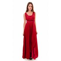 Vestido Largo De Fiesta Noche, Drapeado, Brishka, V-0007