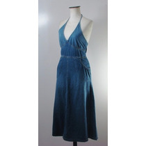 Divino Vestido Solero Largo Jean Divided By H&m-impecable