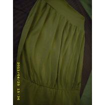Strapless Zara Yersey Verde Mzna. T.1 (sin Etiqueta)
