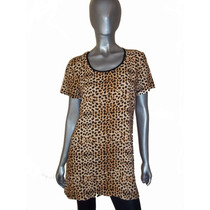 Vestido, Tunica, Remeron De Fibrana Estampada, Animal Print
