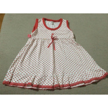 Vestido Nena A Lunares Con Puntilla Talle 5 - 3 Años Aprox